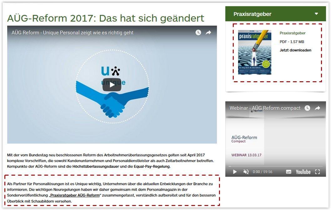 PDF-SEO: Abbildung einer optimalen Einbindung des PDFs auf deiner Webseite.