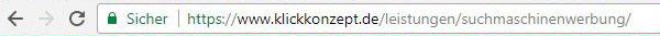 Sprechende bzw. saubere URLs enthalten keine kryptischen Zeichen und geben das Thema der Seite wieder.