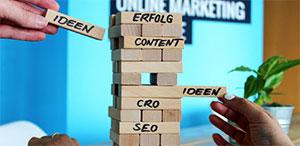Die Bausteine für eine gute Marketing-Performance von Klickkonzept.