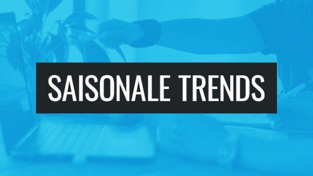 Saisonale Trends bei Klickkonzept.