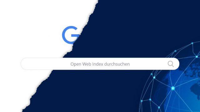 Open Web Index: So könnte die Oberfläche aussehen.