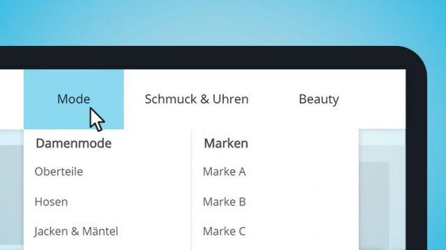 Webseiten Menü Tracking ein Beispiel.