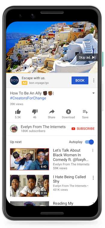 YouTube Call-to-Action Overlay