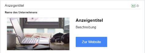 Discovery Anzeige auf Gmail