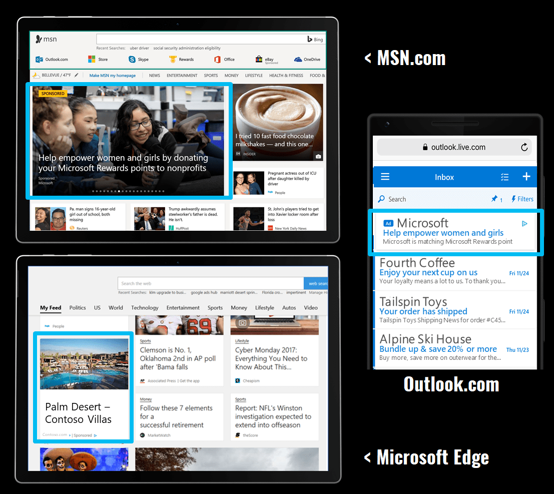 Microsoft Ads Placements