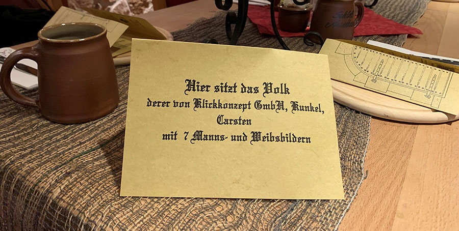 Schloss Auerbach Tischdekoration