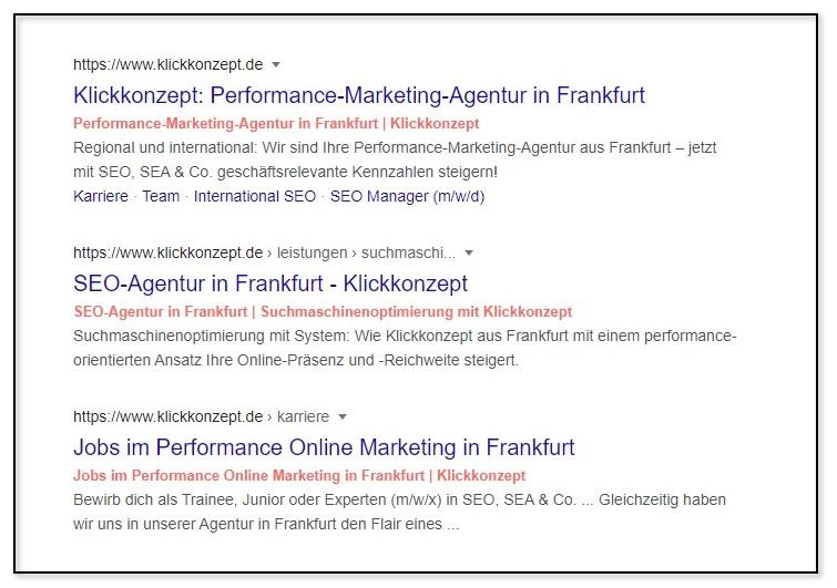 Dynamisch generierte Title Tags in den Suchergebnissen